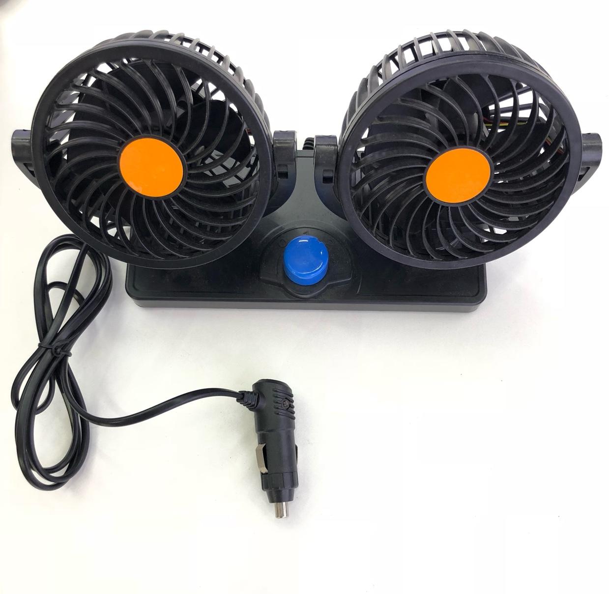 车载风扇车用双头12V24v小货车内制冷强力大风力汽车电风扇