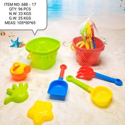 儿童沙滩玩具套装车大号沙漏铲子沙桶宝宝沙池工具玩沙决明子玩具688-17