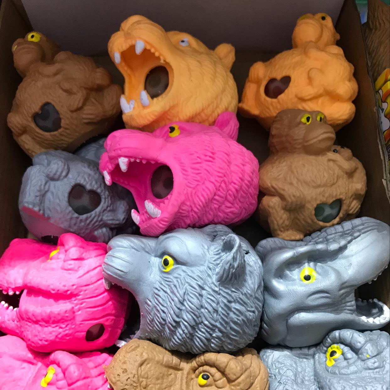 挤压动物,挤压减压,新奇特造型玩具,变色玩具