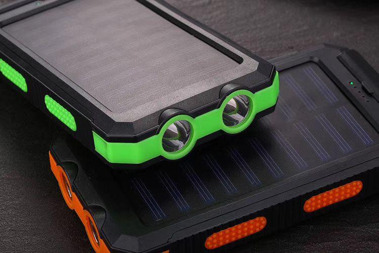 新款LED防水创意指南针太阳能充电宝移动电源 可定制10000mah