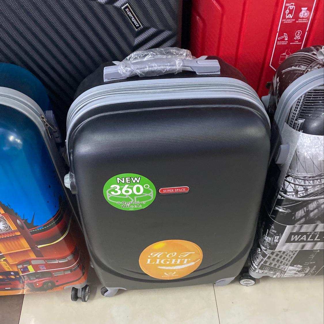 360-1黑色24寸ABS拉杆箱简约贴纸行李箱