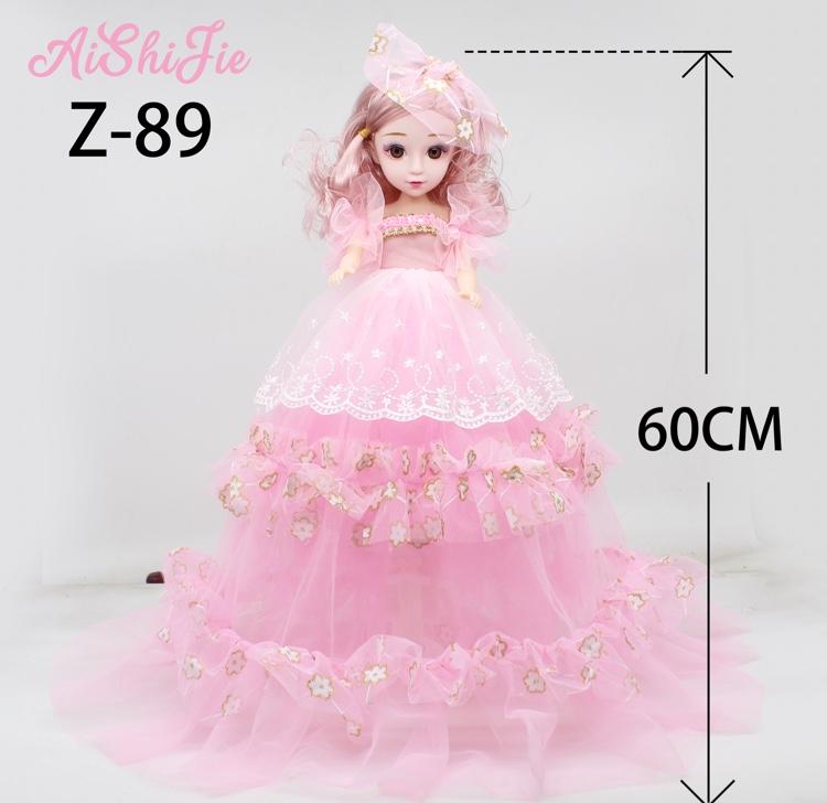 厂家直销60cm刺绣双层唱歌音乐芭比娃娃女孩生日礼物儿童创意玩具