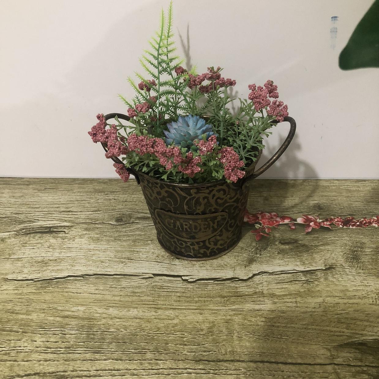 厂家直销新款双耳复古多肉盆栽花器装饰客厅摆件