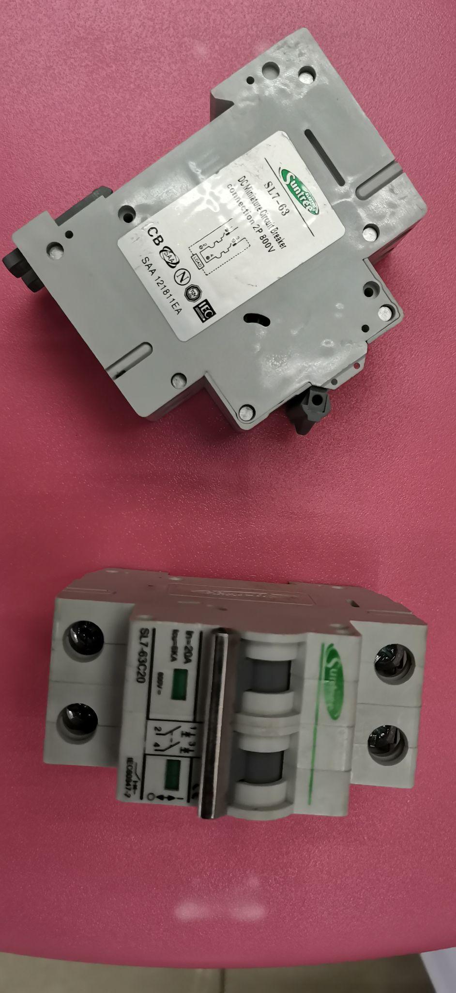 太阳能光伏瓦专用断路器 DC750V PV直流小型断路器 直流空气开关