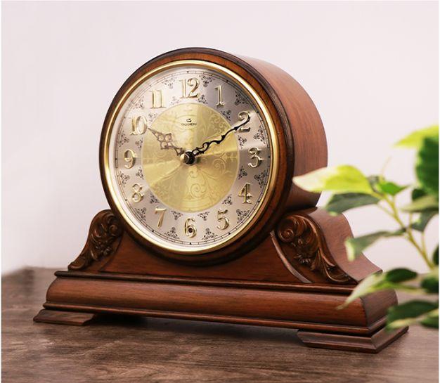 DOGENI/德佳利 实木创意复古欧式座钟客厅办公室音乐报时装饰摆钟