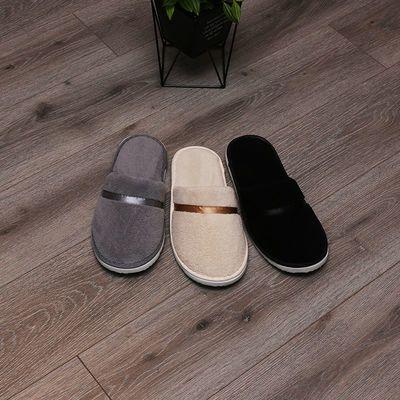 星级酒店一次性拖鞋加厚珊瑚绒男女待客室内防滑酒店专用拖鞋