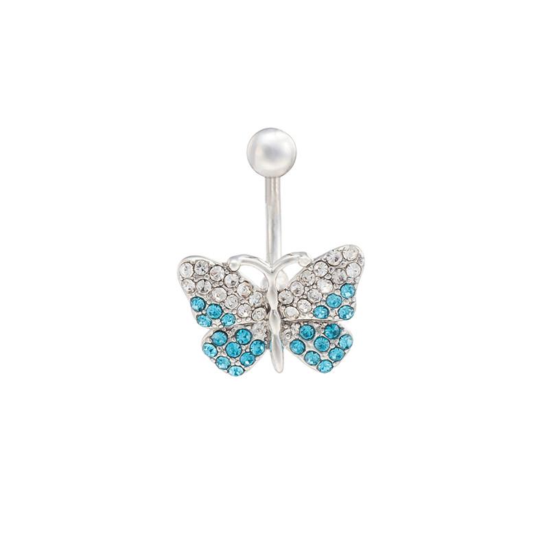 欧美创意蝴蝶肚脐环防过敏肚脐针跳舞时尚打孔穿刺肚脐扣厂家代发