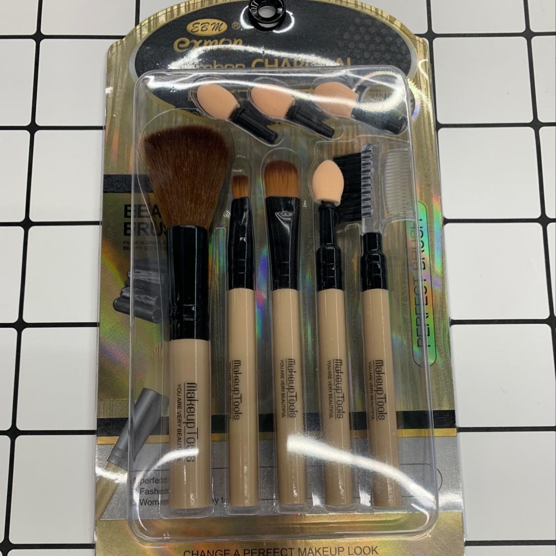 EBM五支化妆刷套装眼影散粉腮红眉刷修容粉底刷唇刷全套美妆刷子工具新手