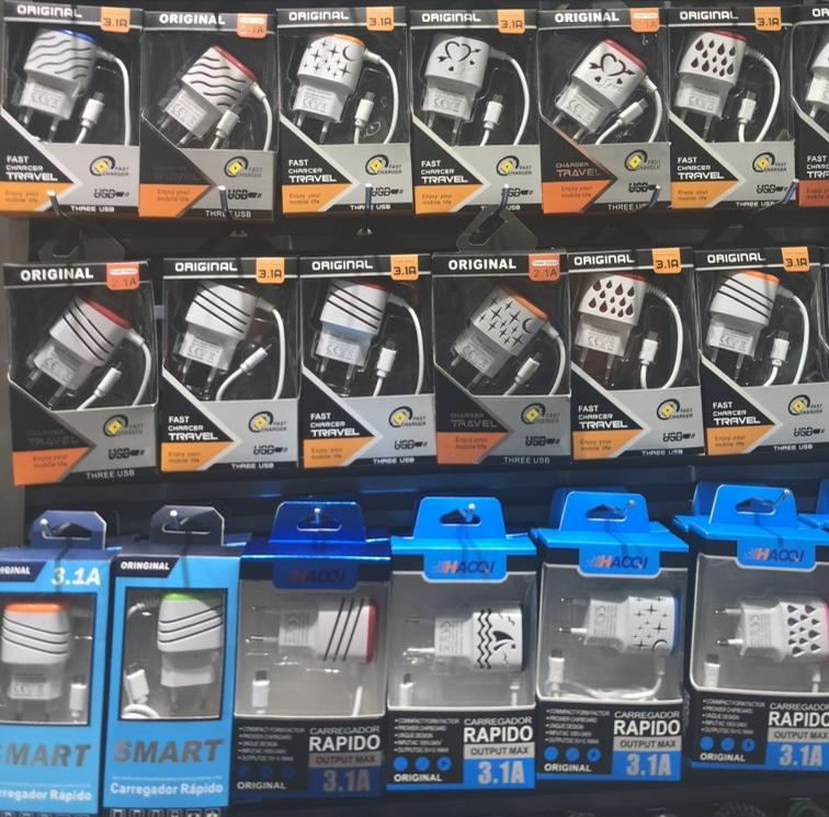 厂家直销5V1A 双USB带线充电器 USB适配器带线充 5V1A快速充电线