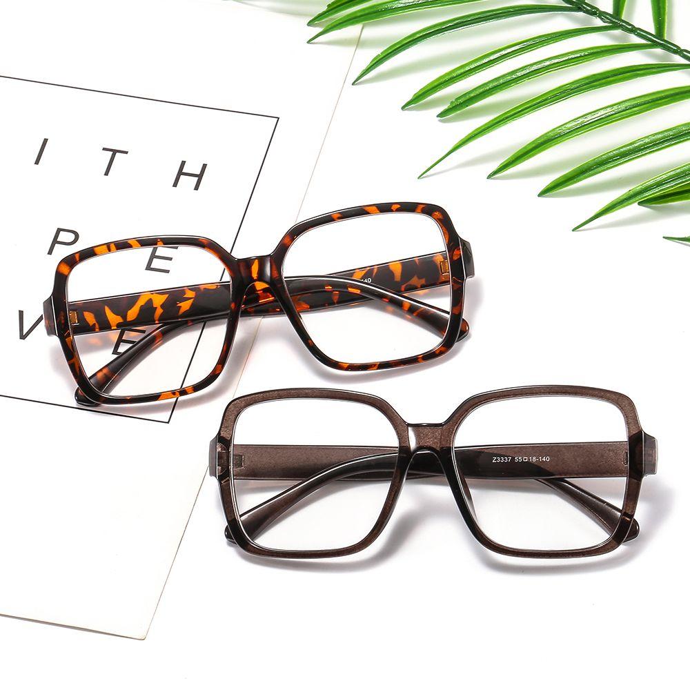 经典大框装饰平光镜 文艺复古眼镜框 时尚方框眼镜