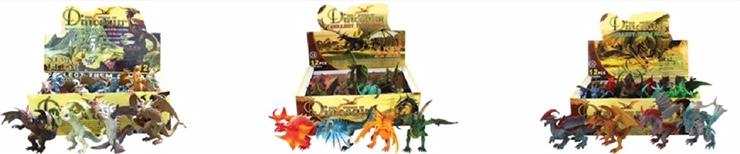 儿童仿真恐龙模型玩具远古西方神话传说魔兽喷火龙中号
