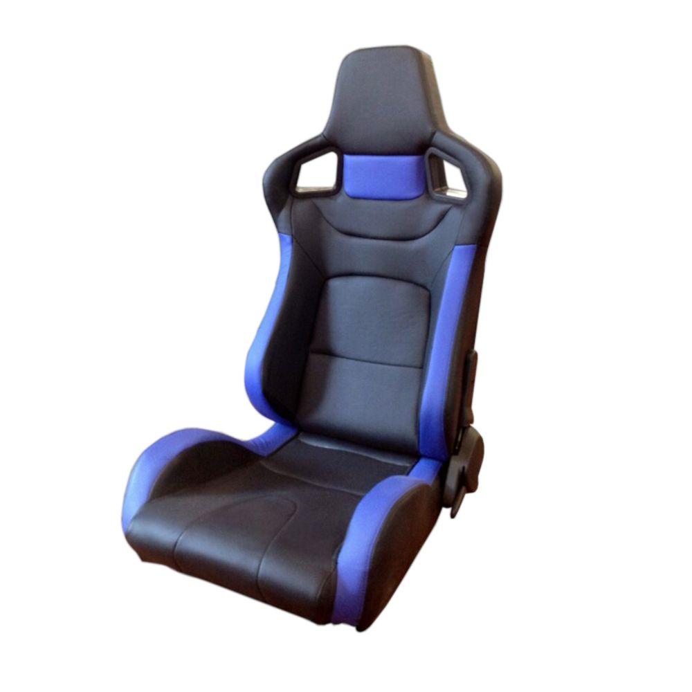 跨境热销改装米黄色PVC双调双滑轨可调节真皮赛车椅汽车安全座椅
