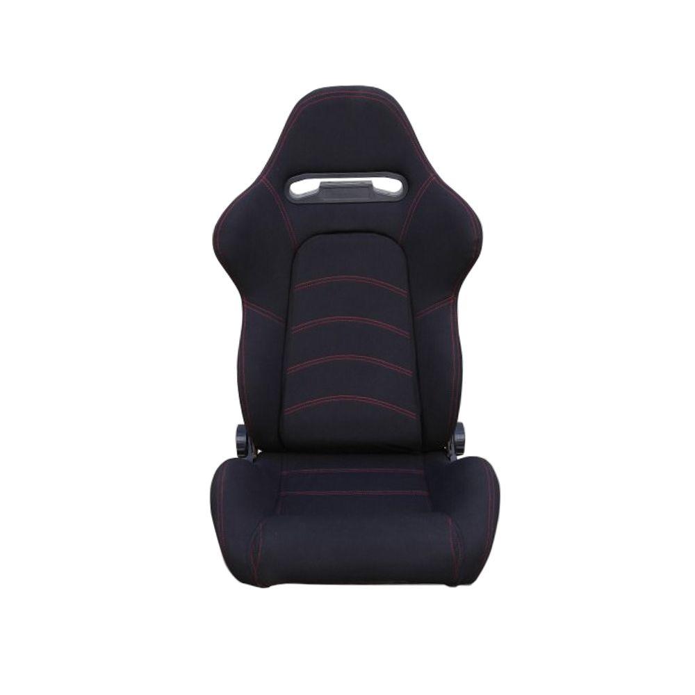 赛车汽车改装通用新款带滑轨黑色麂皮绒座椅