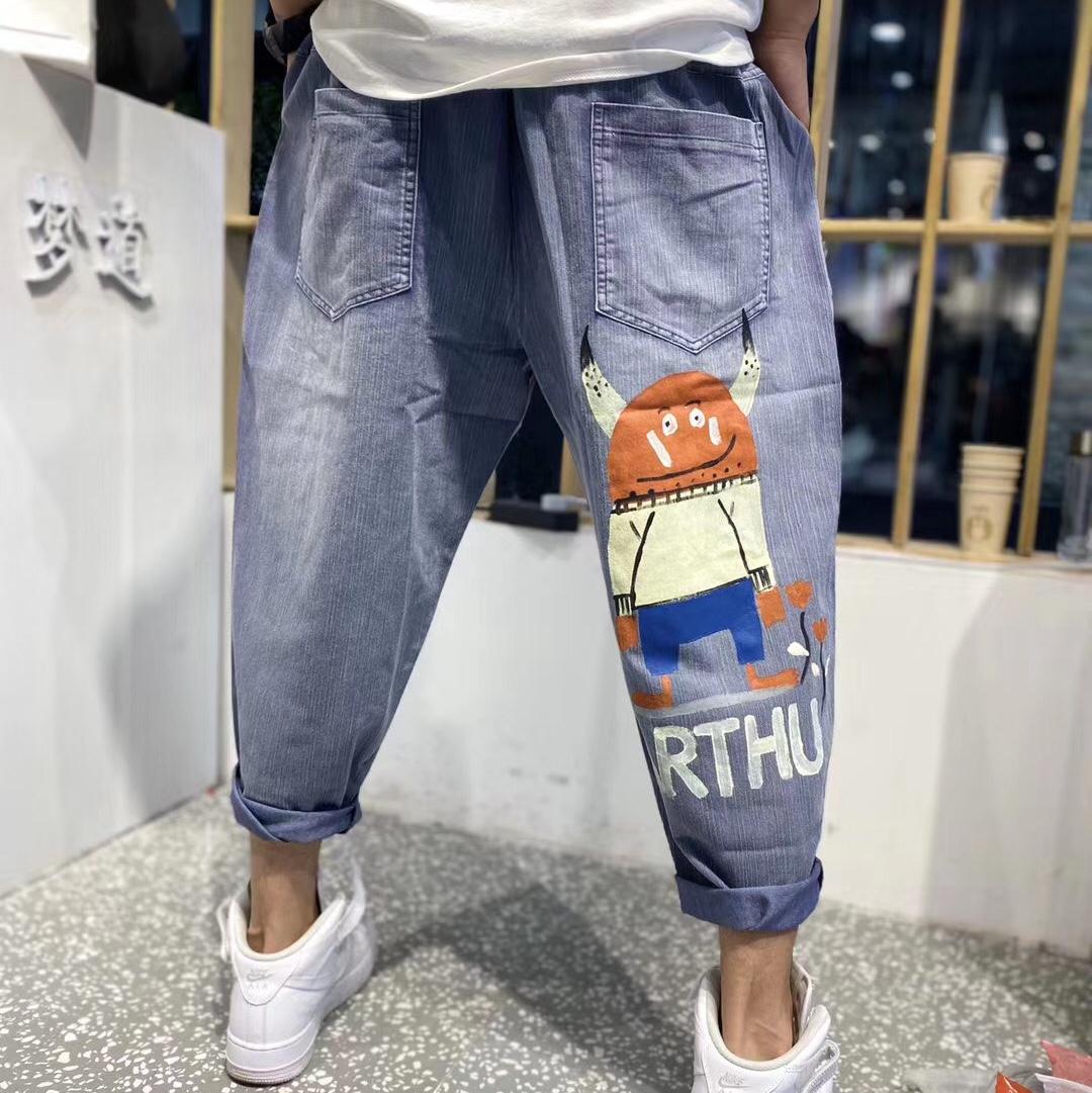 潮裤时尚潮流宽松阔腿裤萝卜裤