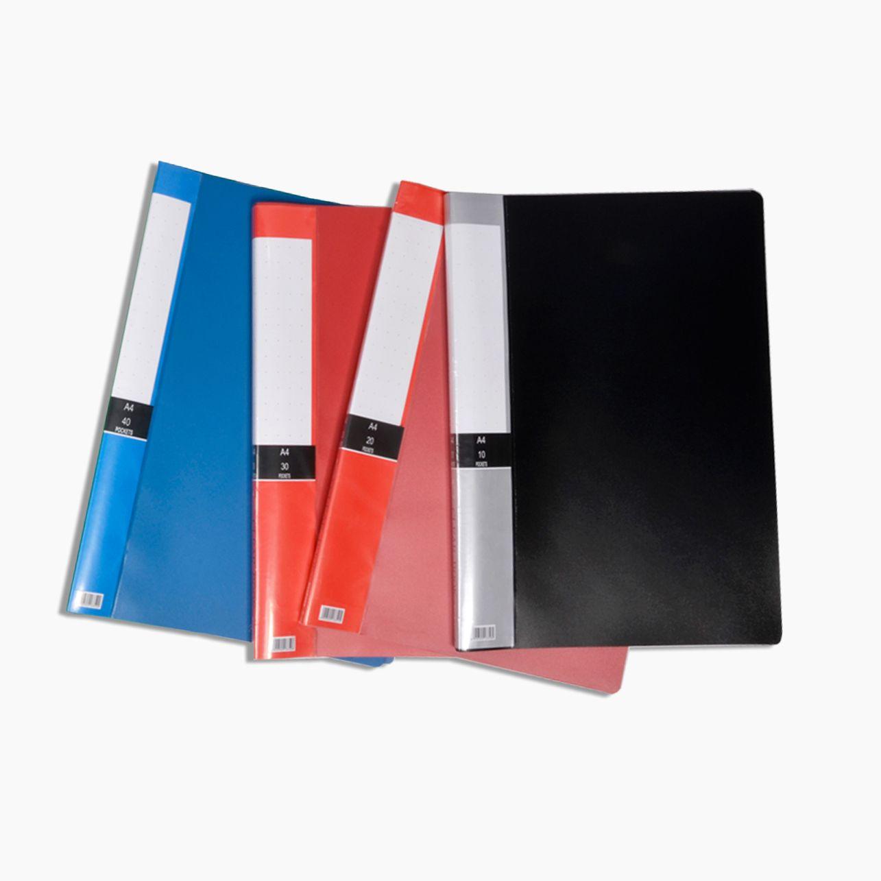 60页活页乐谱夹A4资料册学生试卷收纳袋插页文件夹多层档案保护袋