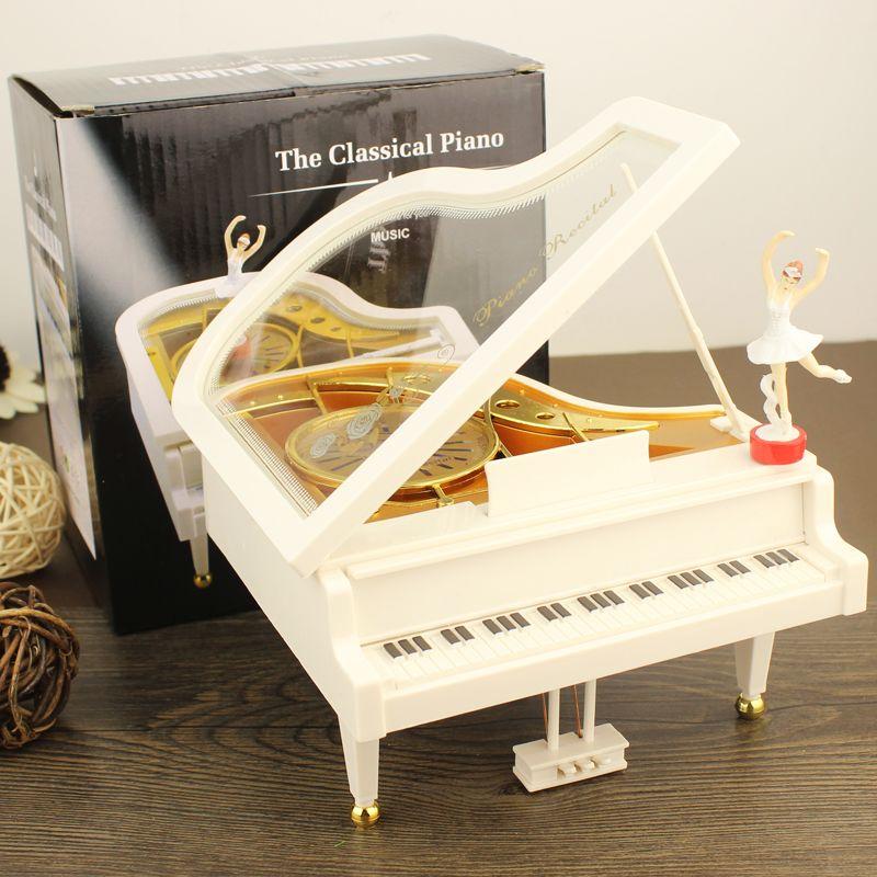 迷你创意女生小号钢琴八音盒 芭蕾舞音乐盒 儿童男女生日礼物摆件