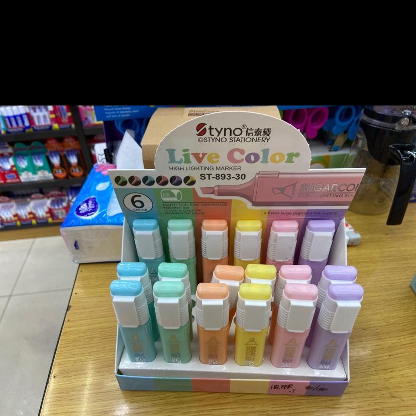 6色荧光笔