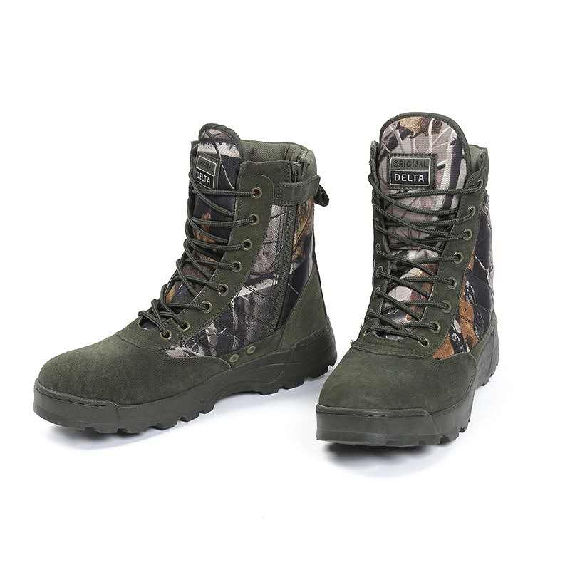 厂家直销沙漠战术靴带拉链创意高帮防滑耐磨作战靴男士军靴批发