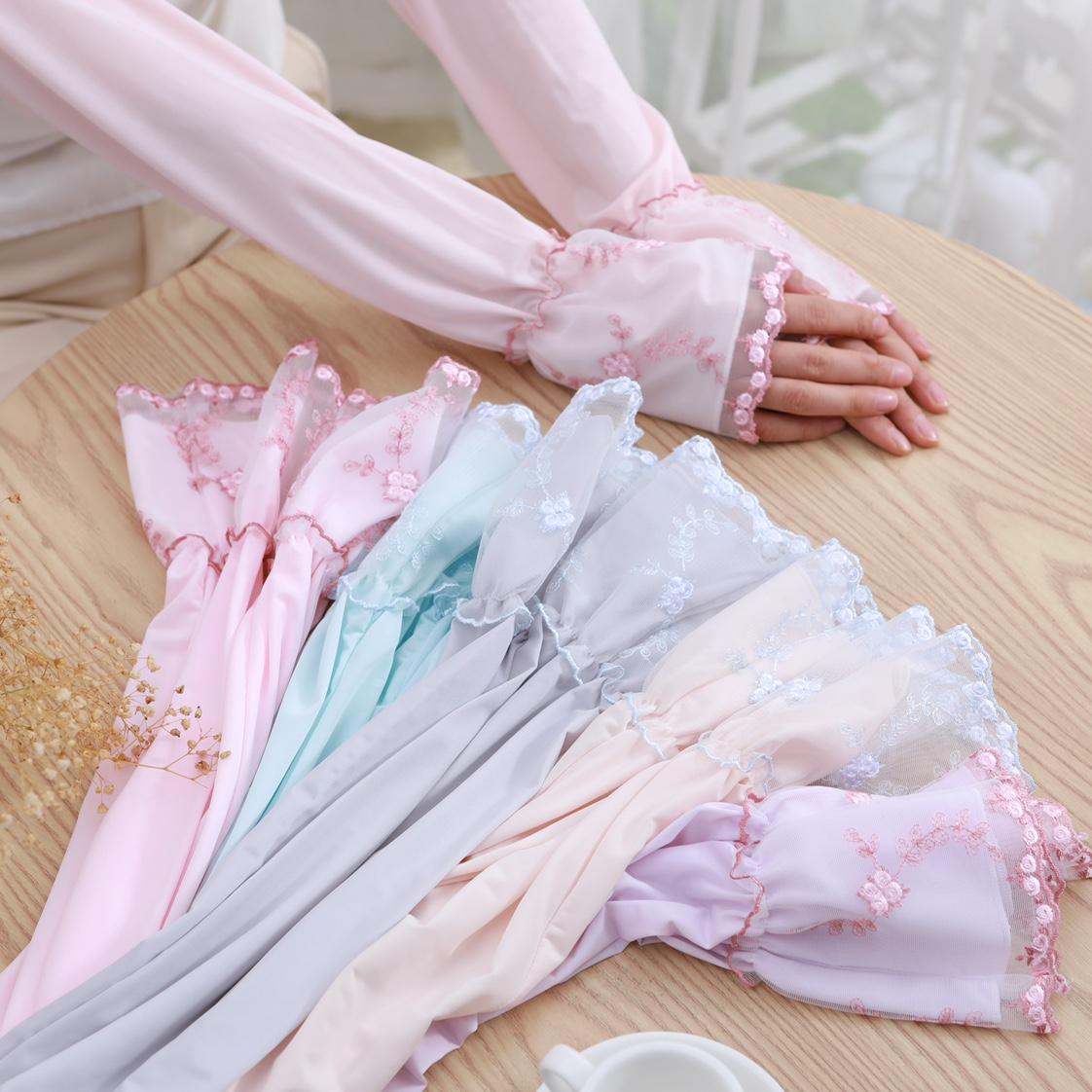 蕾丝冰丝防晒袖防紫外线