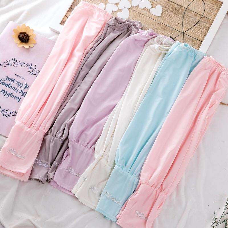 纯棉条纹防晒袖