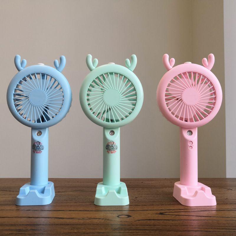 卡通小电风扇迷你学生 宿舍床上手持办公室静音 家用可爱小风扇