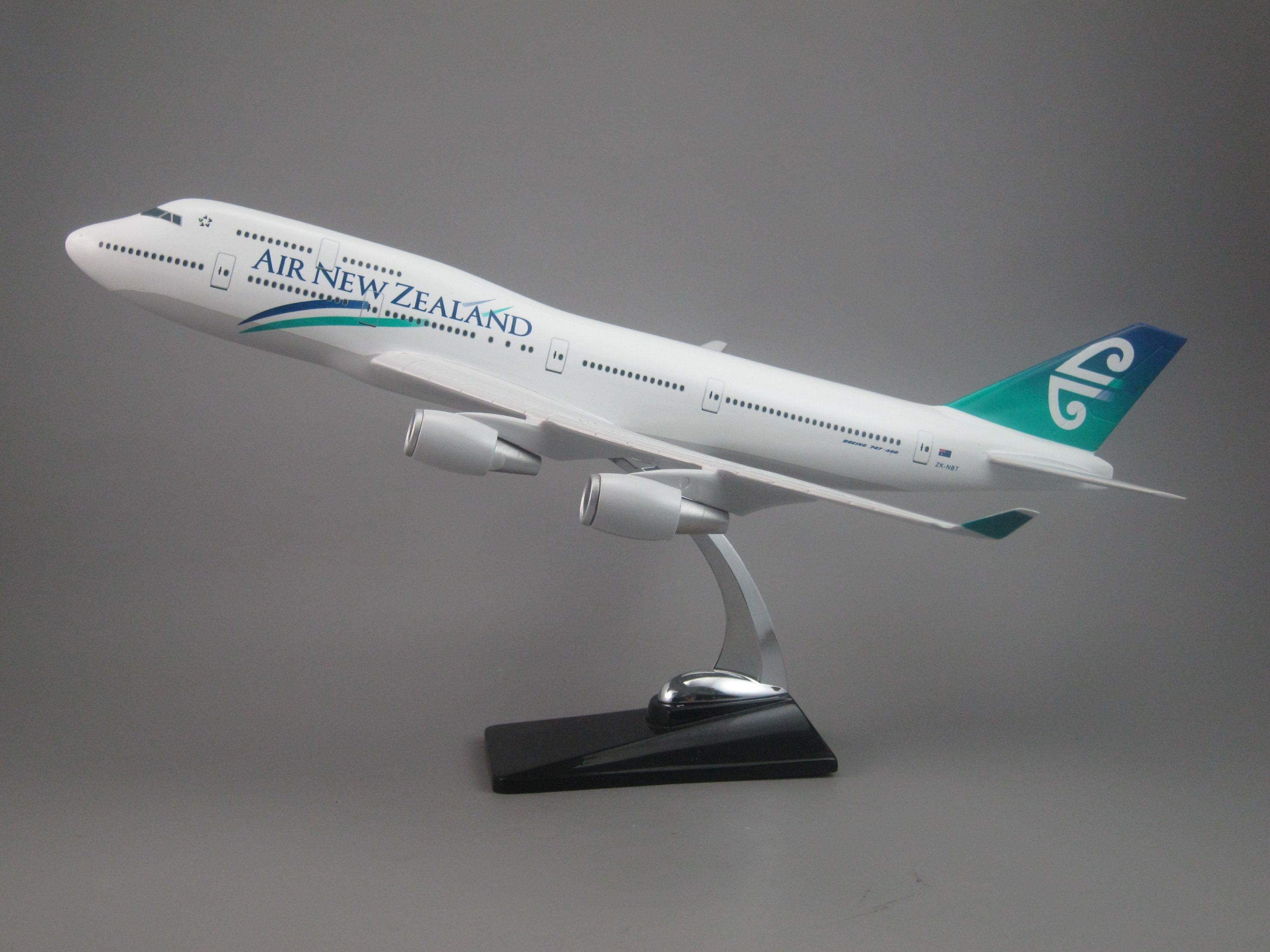 飞机模型(新西兰航空B747-400飞机)仿真飞机 合成树脂飞机模型