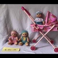 玩具推车加男娃