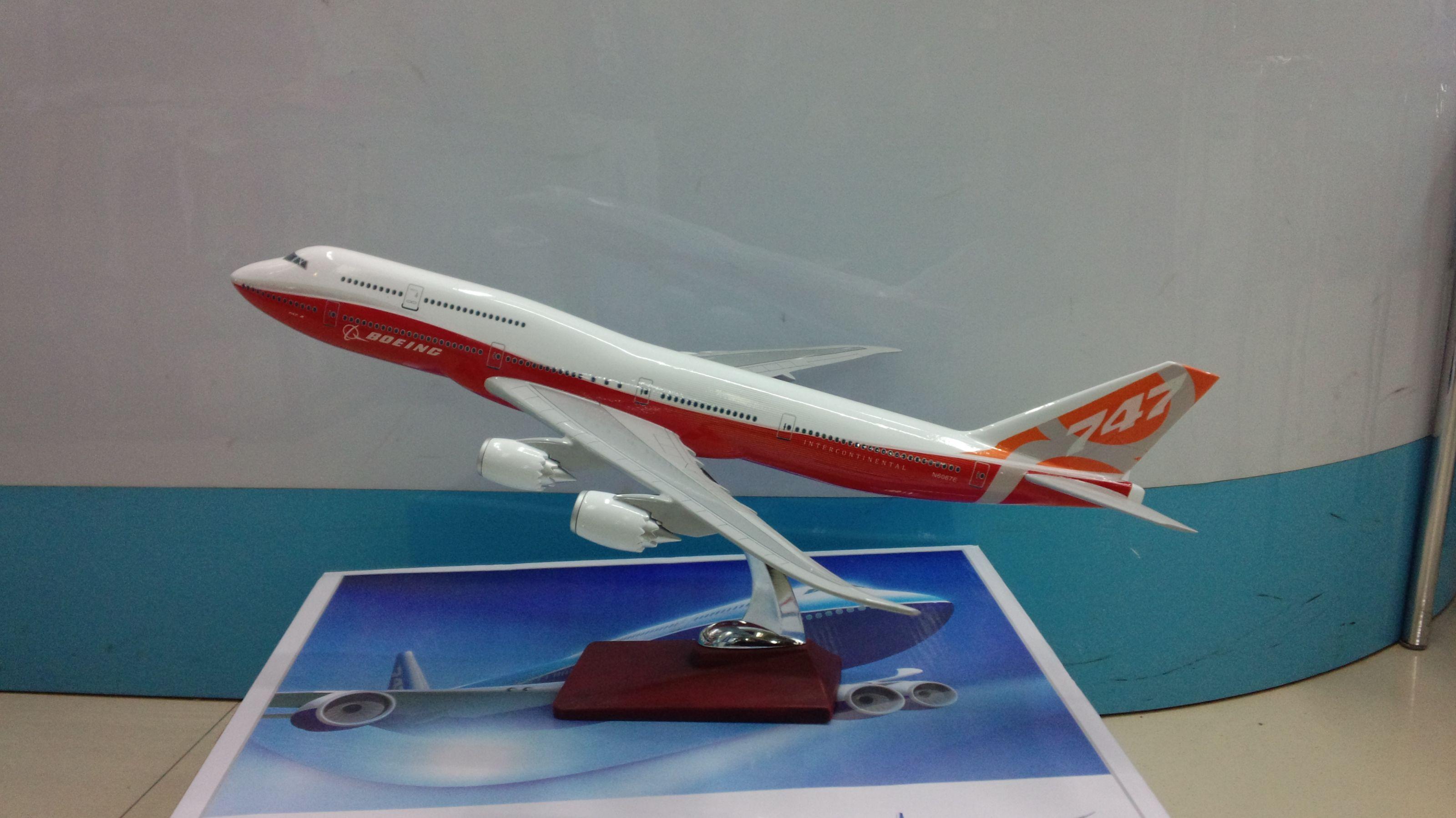 飞机模型(波音公司B747-8飞机)仿真飞机合成树脂飞机模型
