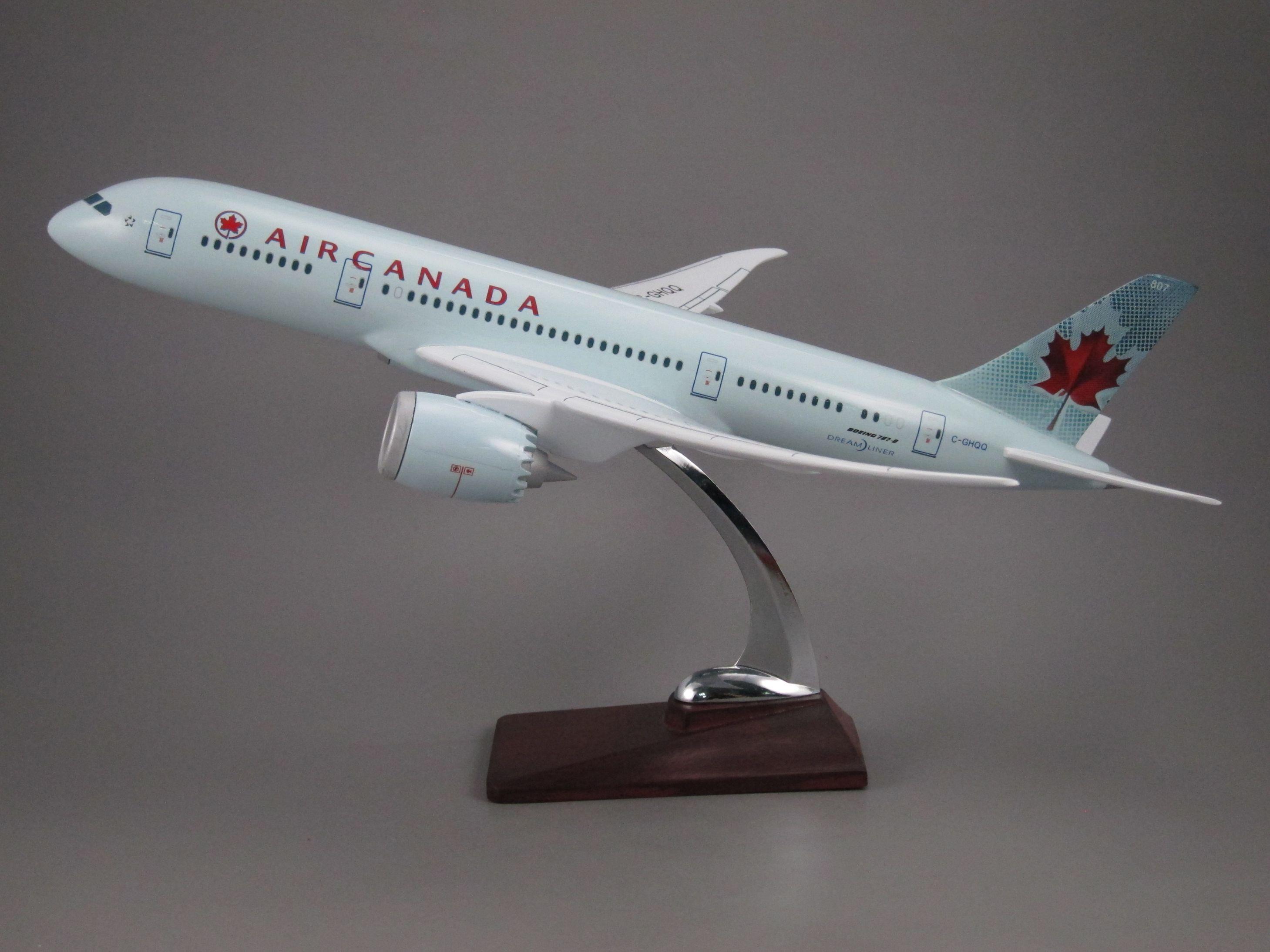 飞机模型(加拿大航空B787老涂装)仿真飞机模型合成树脂飞机模型