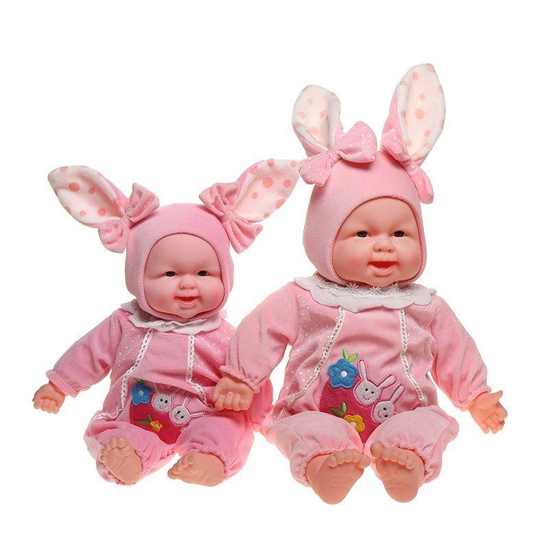 可爱蜜蜂发声唱歌儿童玩具搪胶仿真笑娃 外贸爆款货源批发娃娃