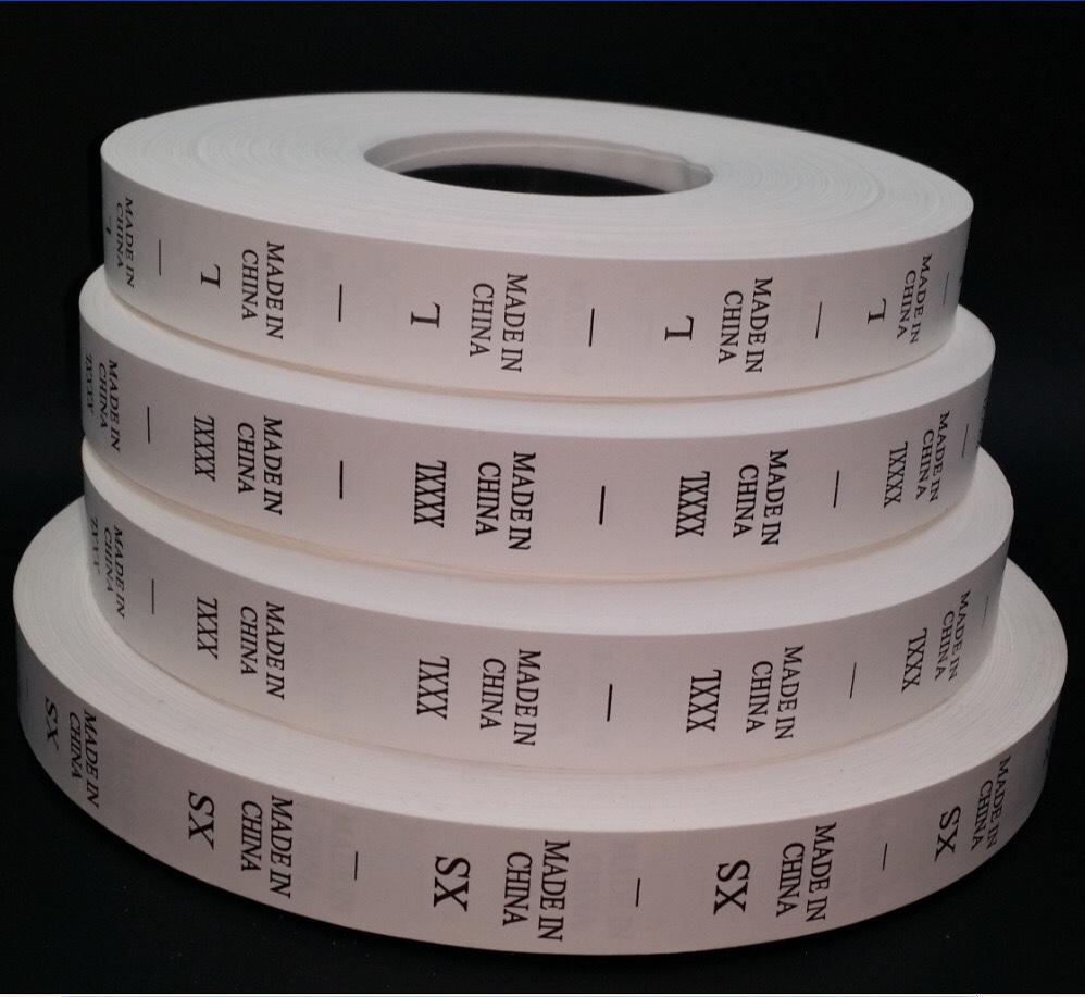 厂家现货中国制造尺码标签 水洗标made in china xs-xxxxl