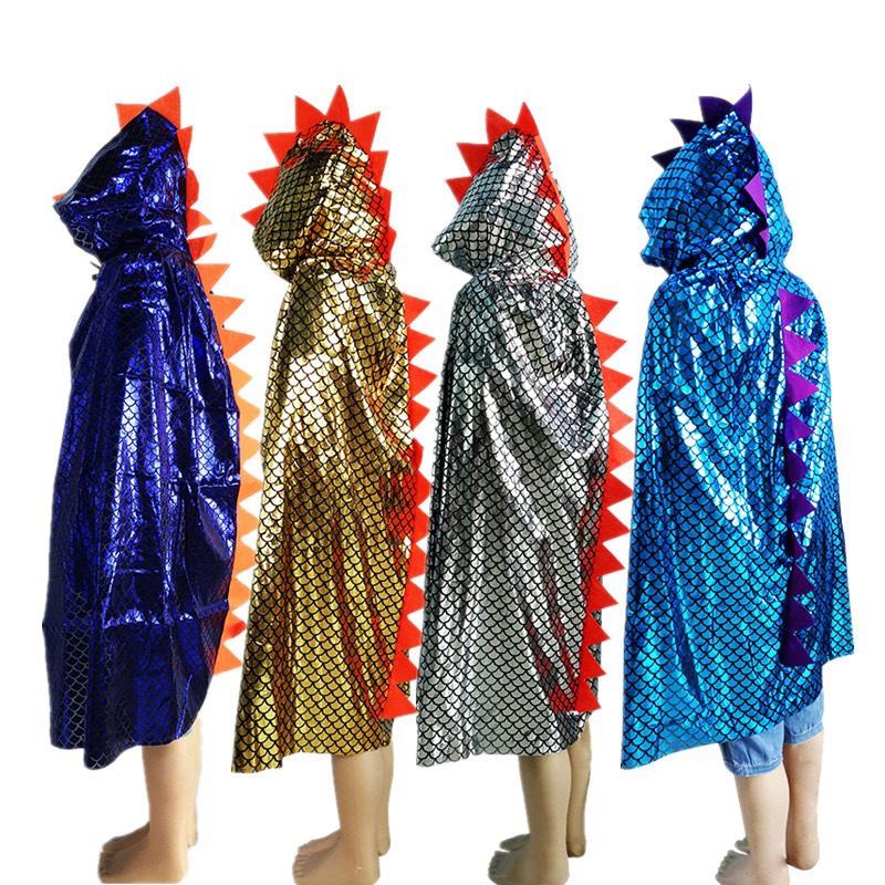 万圣节产品 cosplay道具儿童化妆舞会演出服装装扮 恐龙披风斗篷