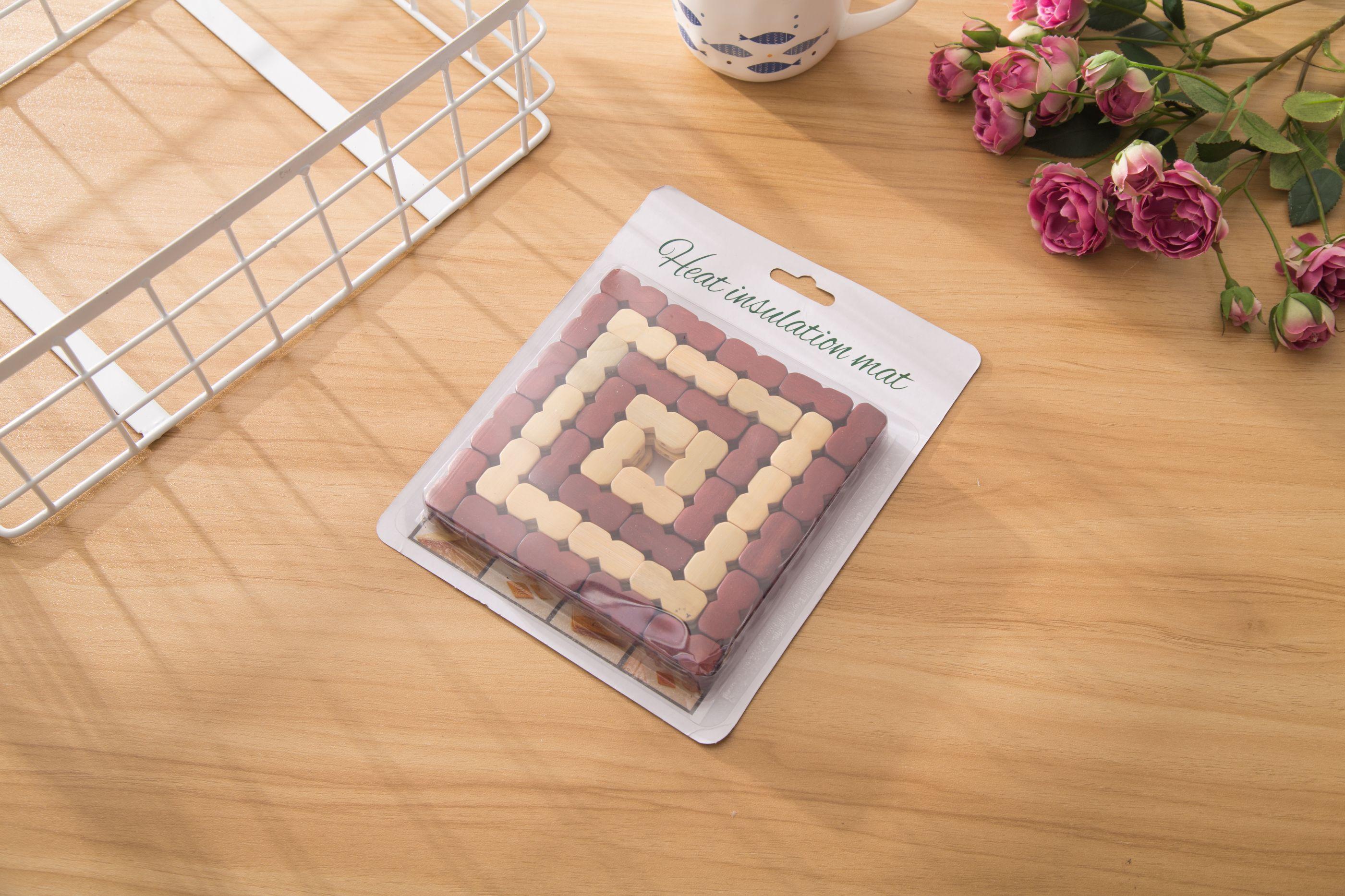 厂家直销方形可定制竹子餐垫批发竹粒垫颗粒垫锅垫咖啡垫杯垫