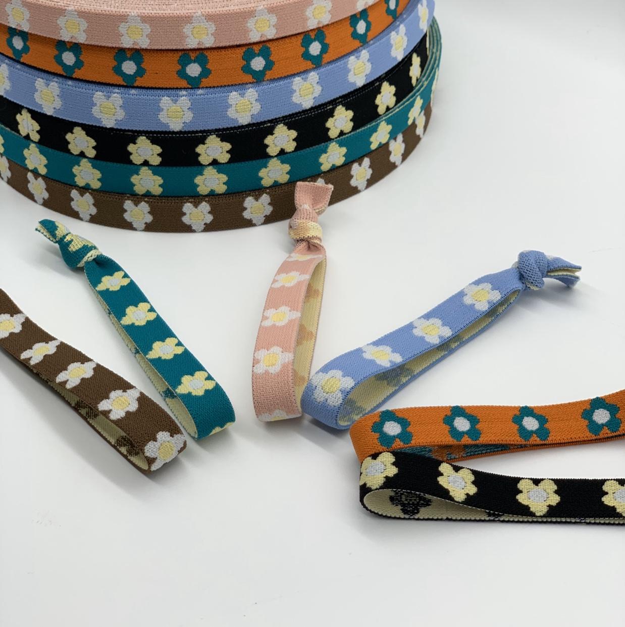 厂家热销 小清新风格1.5小花松紧带针织松紧带