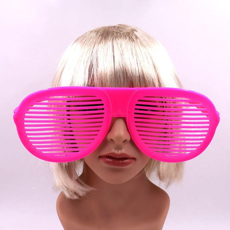 夸张百叶窗大眼镜 化妆舞会舞台表演道具 沙滩拍照装饰眼镜
