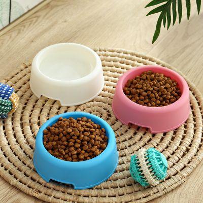 宠物用品圆形小号塑料轻薄特价现货粉色蓝色白色猫碗狗碗宠物碗