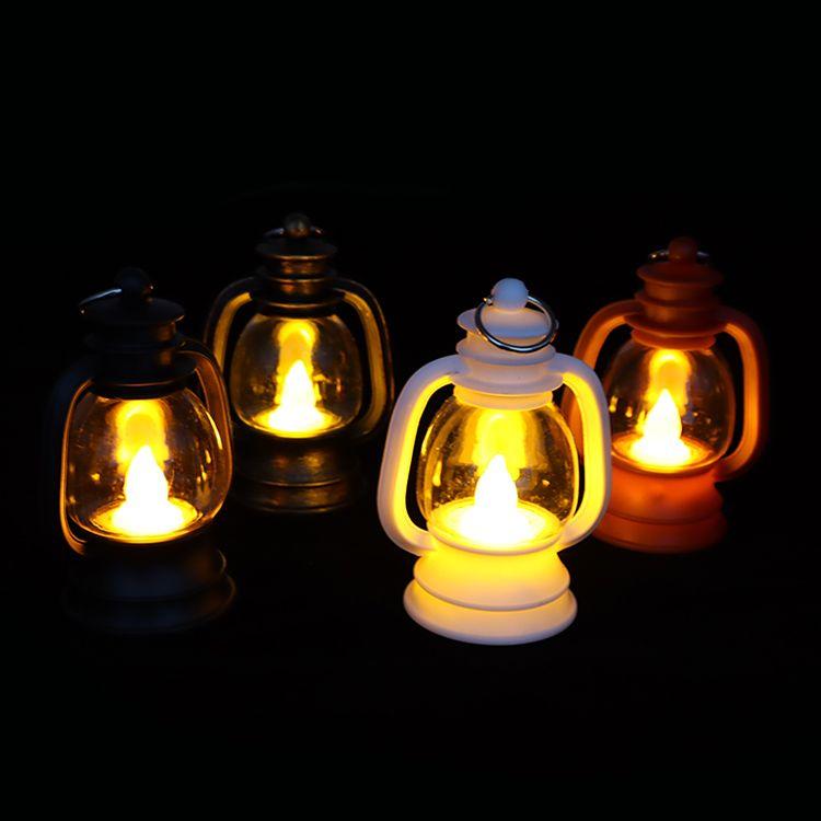 新款LED蜡烛煤油灯 复古马灯 怀旧彩灯 户外手提灯 酒吧台灯/桌灯