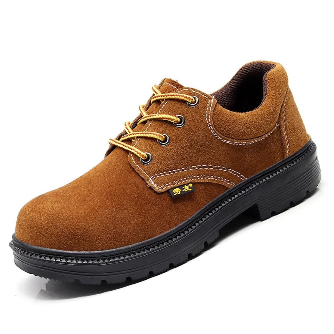 劳保鞋钢包头防砸钢板底防刺穿翻毛牛皮电焊工鞋