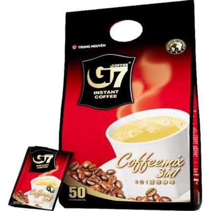 G7中原牌三合一风味咖啡固体饮料速溶学生提神50条