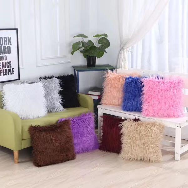 亚马逊爆款枕套 长毛绒抱枕套 时尚汽车靠枕 居家沙发大靠枕