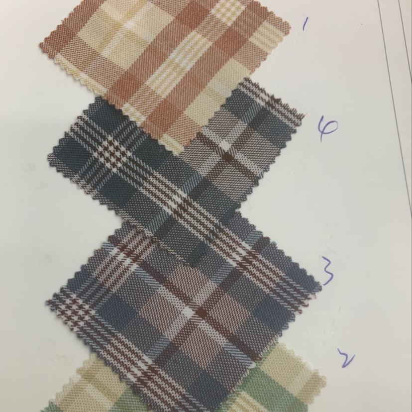 新款色织斜纹格子衬衫裙子面料