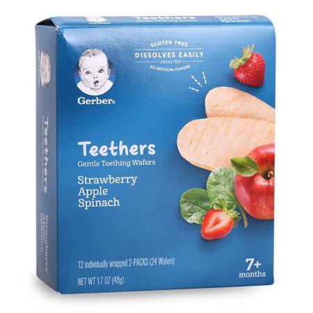 美国gerber嘉宝米饼 草莓苹果菠菜味