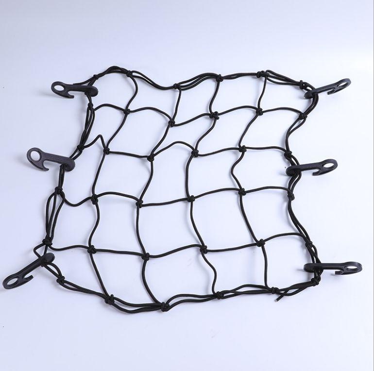 30*30CM网兜网绳彩色加粗钩高弹力绳货物捆绑绳行李绳捆绑带彩绳