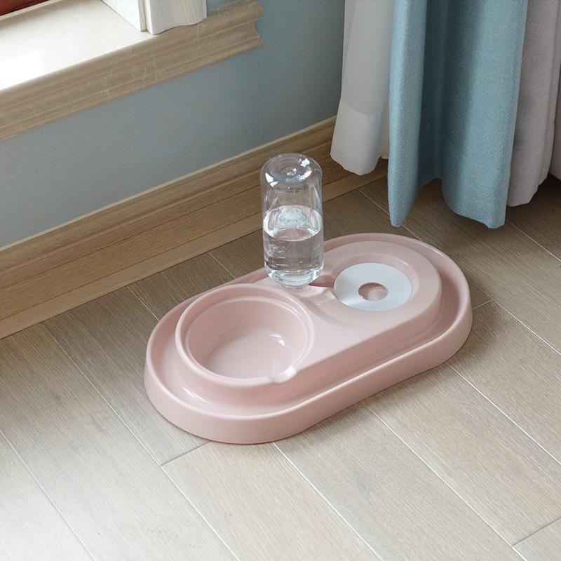 狗碗双碗狗食盆浮水碗不湿嘴喝水碗狗狗自动饮水器猫咪宠物喂食碗