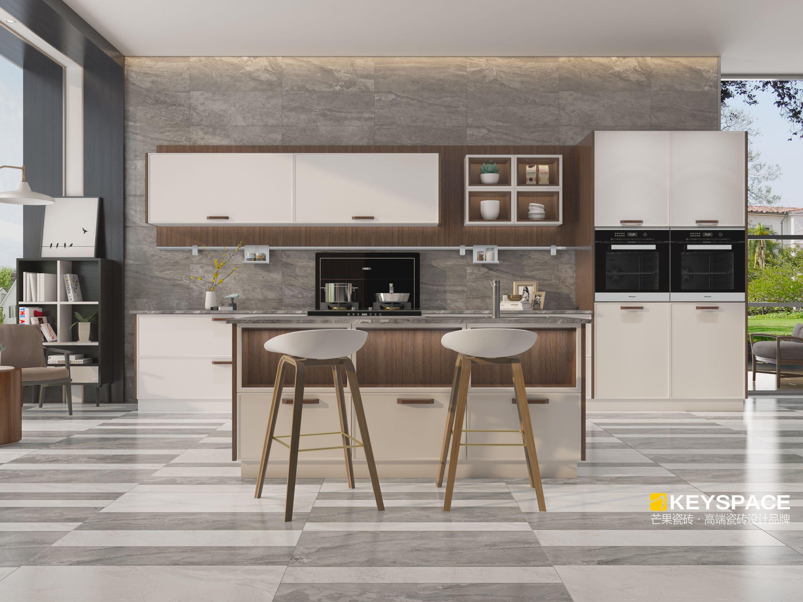 芒果瓷砖现代新中式地板砖