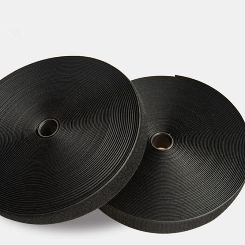 10cm 白色/黑色魔术贴厂家直销 无胶混纺车缝彩色魔术贴/粘扣带