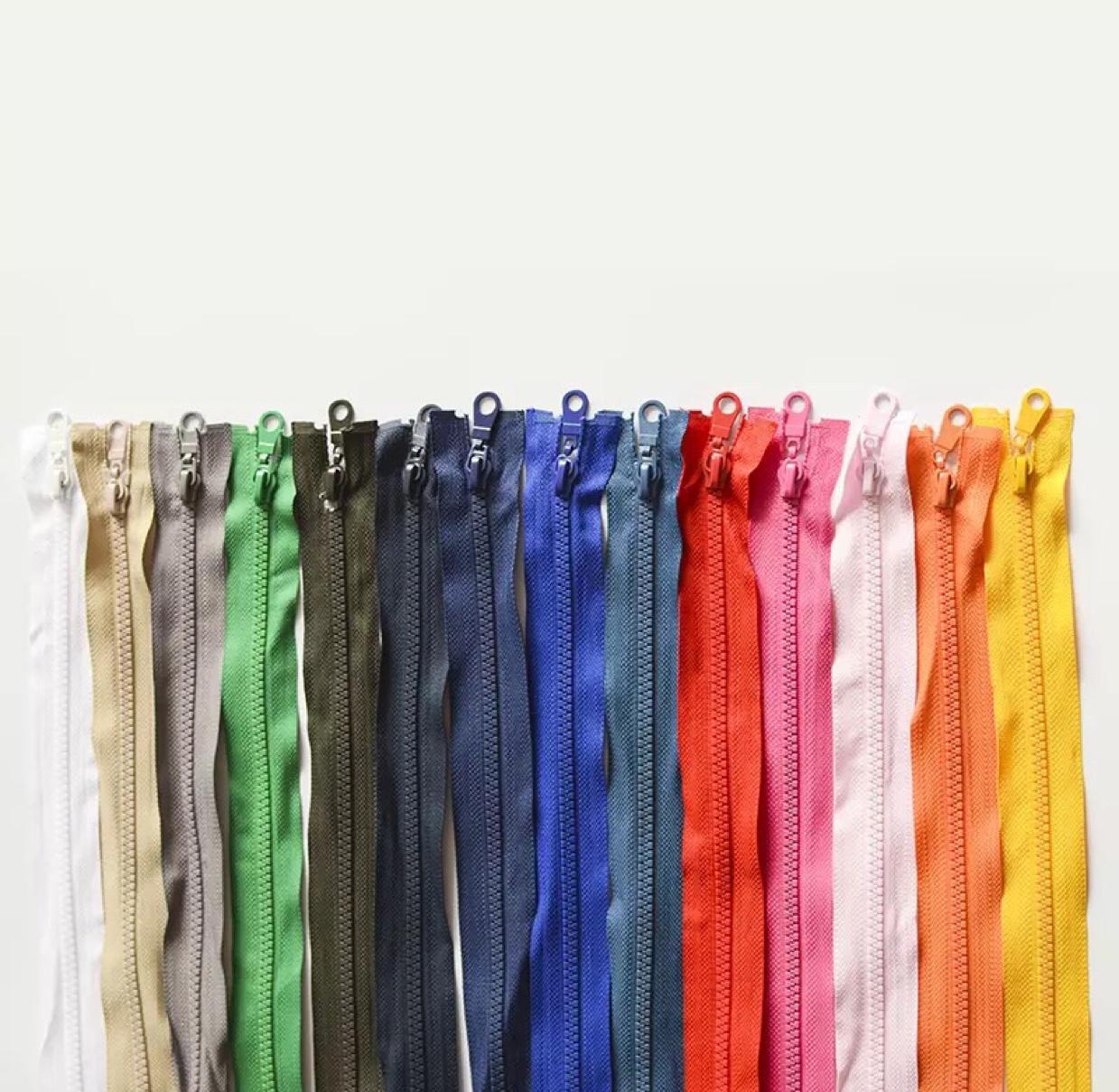 现货批发5号树脂拉链开尾60公分粗齿拉链 校服羽绒服工作服外套拉链