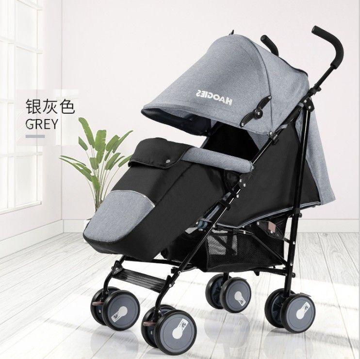 新款伞车宝宝手推车可折叠可坐可躺童车带脚套质量好价格低