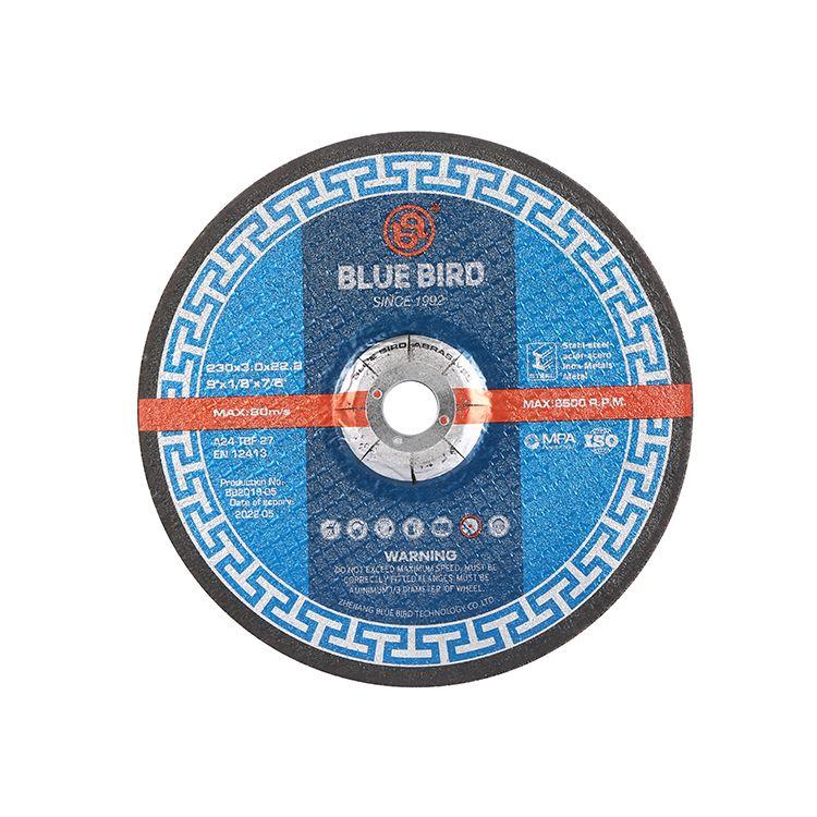 蓝鸟砂轮片230*3*22.2 DEPRESSED BLUE BIRD ABRASIVE