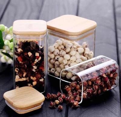 方形高硼硅耐热耐高温玻璃密封罐储物罐储物瓶